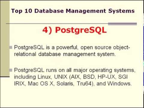 Top 10 Database Management Systems