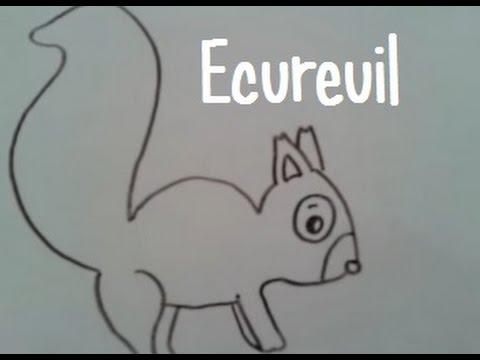 Dessiner un ecureuil version 2 youtube - Ecureuil a dessiner ...