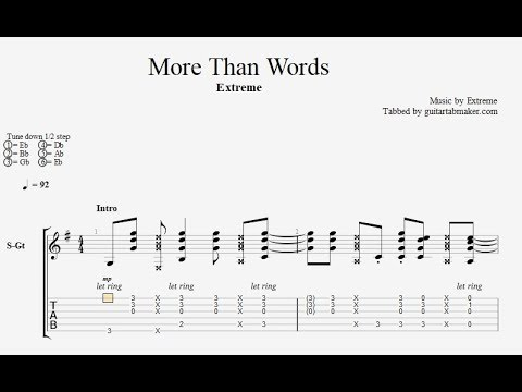 More Than Words Tab Acoustic Guitar Tab Pdf Guitar Pro Youtube