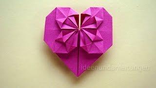 Origami Anleitung: Herz falten - Geschenk selber falten mit Papier z.B. für Freundin - DIY