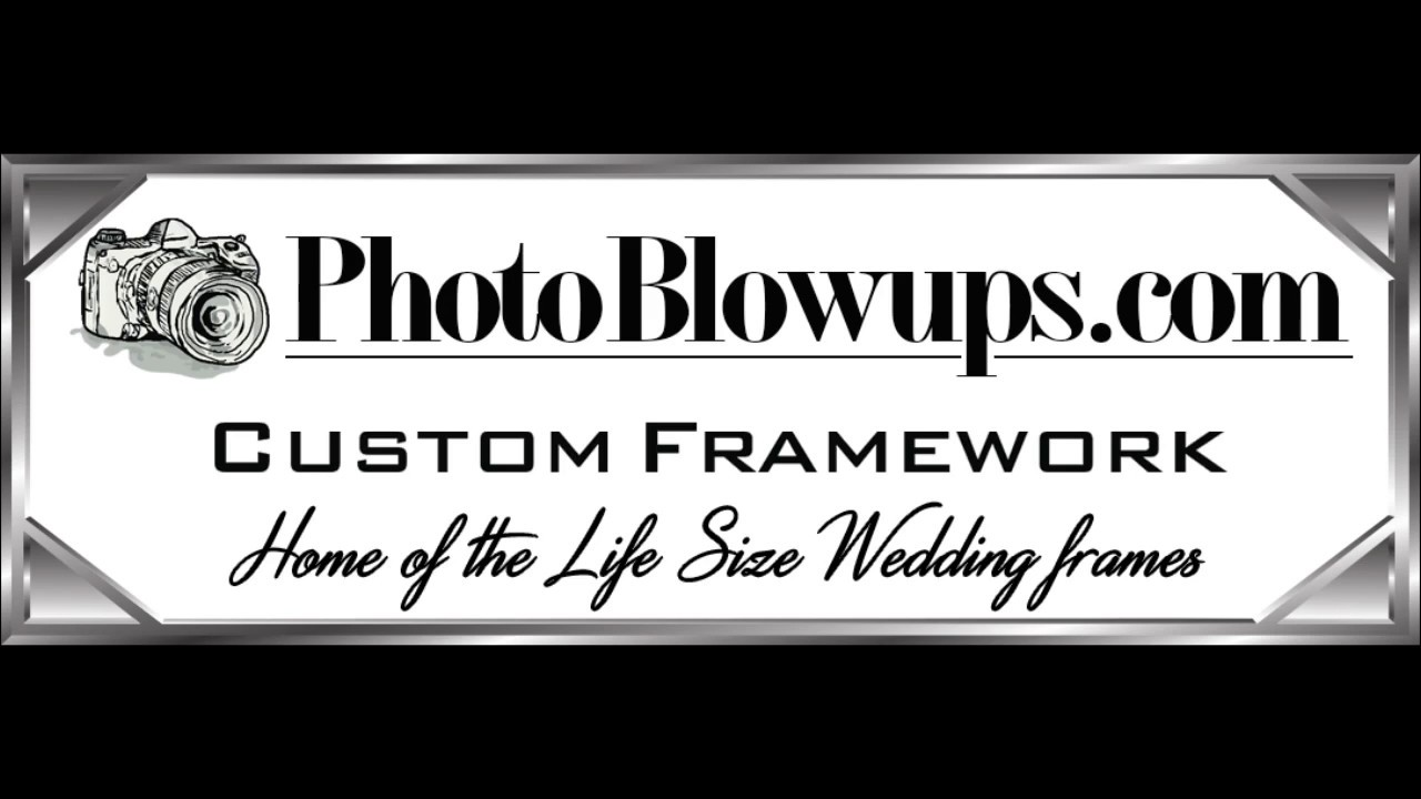 Custom Framework - Home of the Life Size Wedding Frames - YouTube