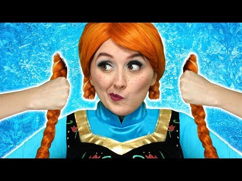 FROZEN ANNA CUTS HER HAIR With Elsa Belle Hans and Jafar Totally TV