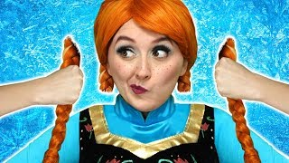 FROZEN ANNA CUTS HER HAIR! (With Elsa, Belle, Hans and Jafar) Totally TV parody