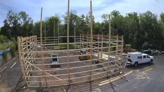 Our New Shop, Pole Building Construction Time Lapse Day 2