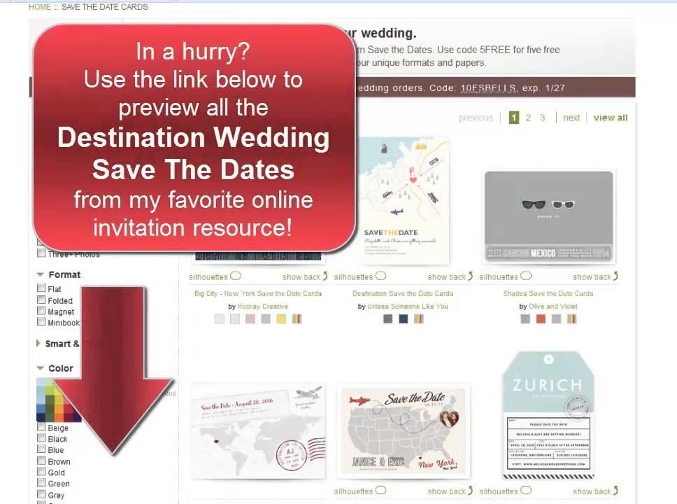 destination wedding save the dates my favorite online designs