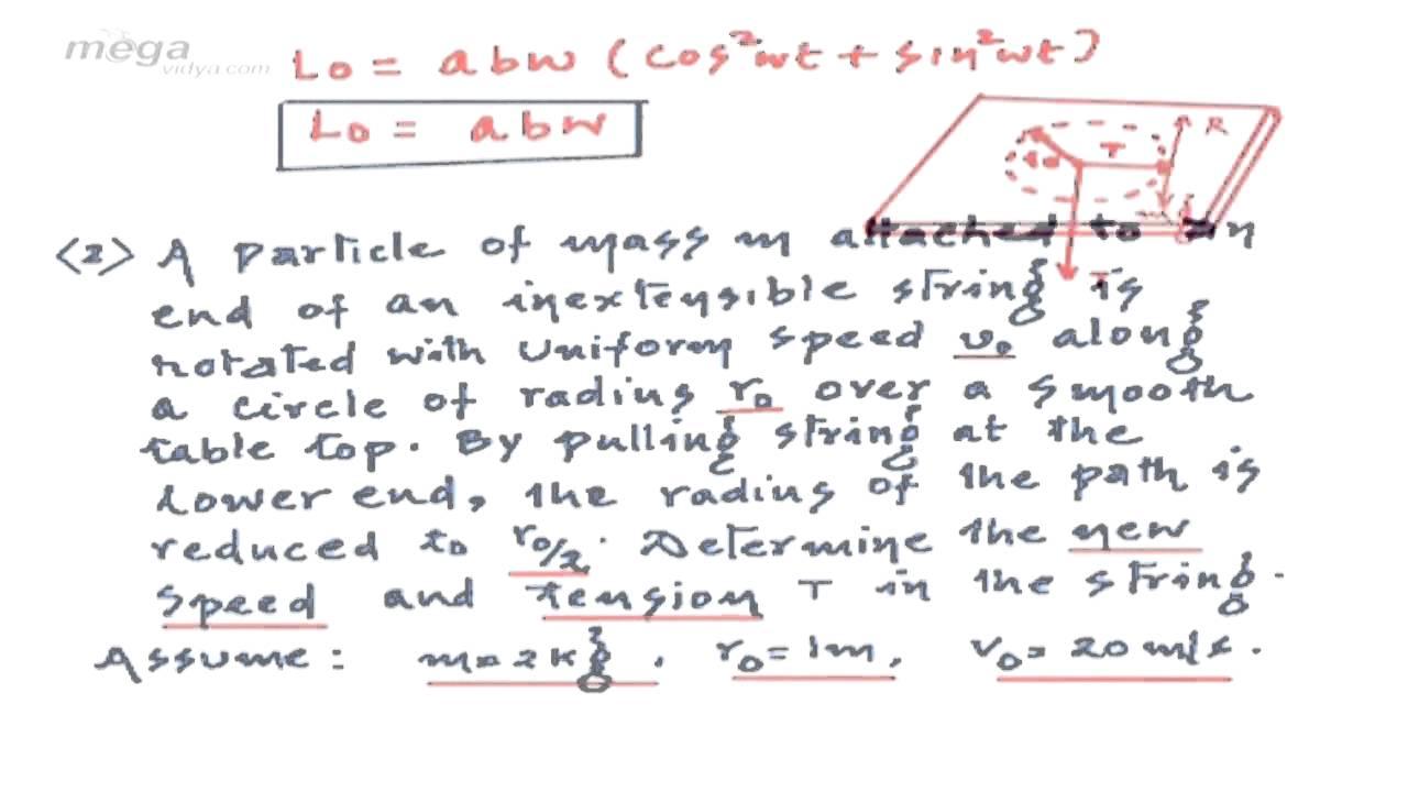 Phy Abhi Rotational Mechanics 27 Moment of Force 27 Questions Based on  Angular Momentum & its Conser