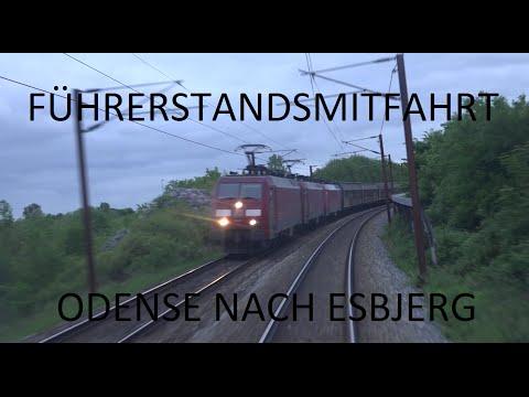Führerstandsmitfahrt Dänemark - Odense nach Esbjerg mit IC877