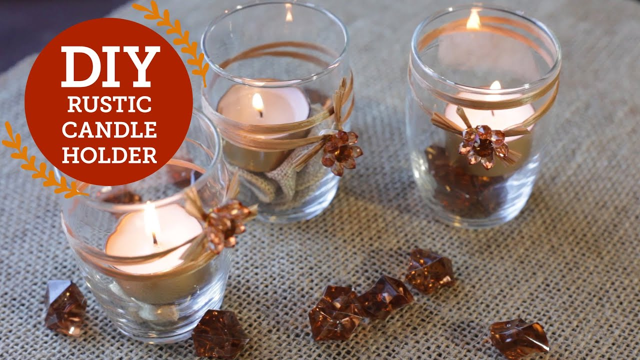 Rustic Candle Holder DIY Decorations