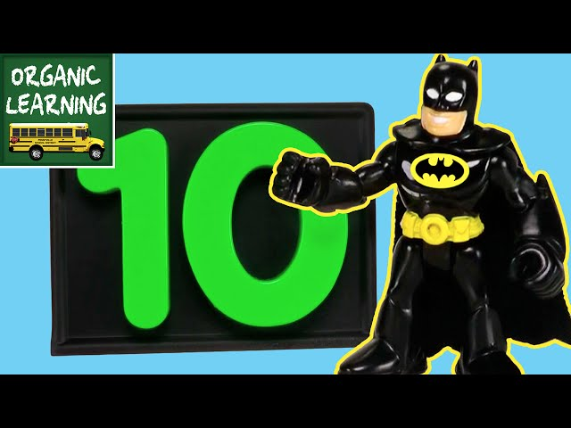 Learning to Count with Batman for Kids - Learn to Count Numbers 1 to 10 - Superhero Counting 123s