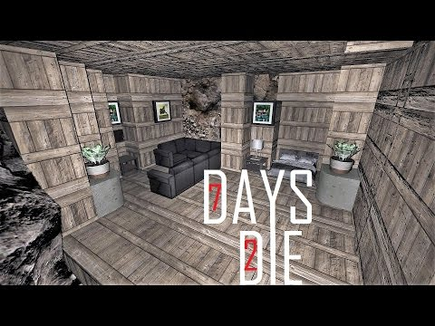 7 Days To Die Base Building Making A Underground Base