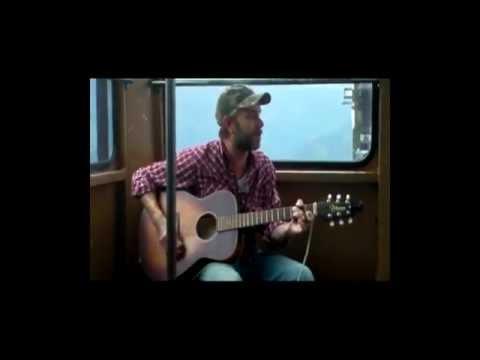 Ben Nichols of Lucero playing on the Alyeska tram in Girdwood, Alaska