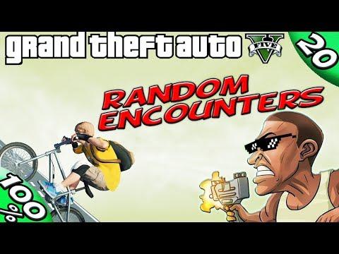 GTA V - Franklin RANDOM ENCOUNTERS [100% GOLD Walkthrough]