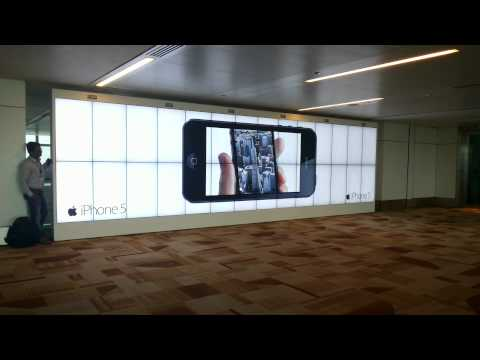T3 Airport - Apple Video wall 1