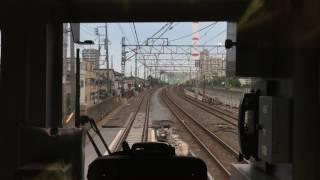 東武スカイツリーライン 竹ノ塚下り急行高架線 前面展望(西新井〜草加)60fps