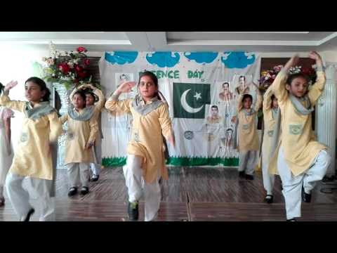 Grade 2 and 3 girls- performance on the  Defence Day of Pakistan Thinker's Alliance CSS Bhakkar