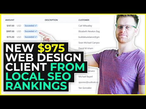 New $975 Web Design Client From Local SEO Rankings
