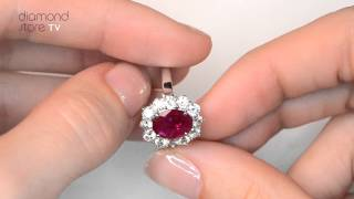 Platinum Ruby 2.40ct And Diamond 1.00ct Ring - FET27 TY
