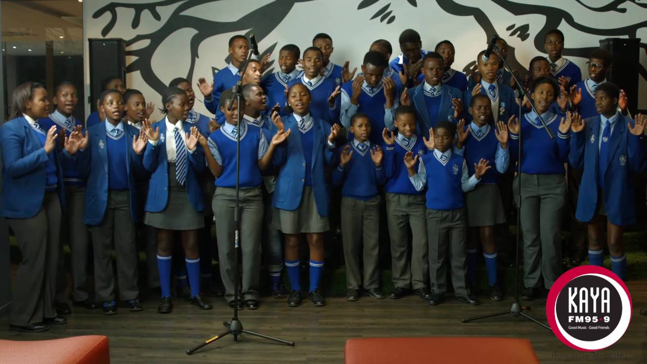 "The Thaba Jabula Secondary School Choir performs ""Igazi lika Jesu"" live on  Karibu with Mike Siluma"