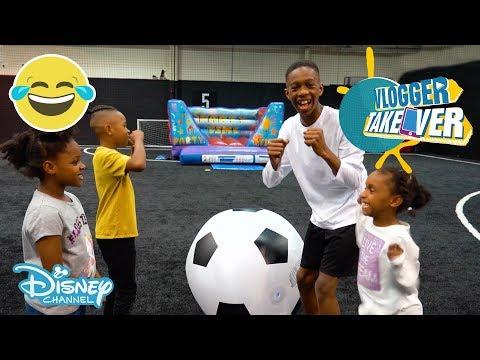 Vlogger Takeover | Shootout Challenge ft. Tekkerz Kid | Disney Channel UK