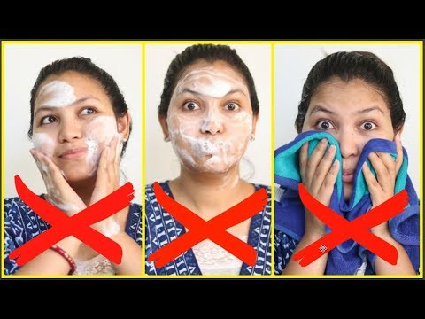 Face wash -10 Face wash Mistakes You Must STOP Immediately/daily skin care tips