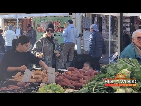 Khloe Kardashian Takes True To The Farmer's Market In Calabasas