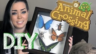 DIY Faux Insect Display - 'Animal Crossing- New Leaf' Themed!