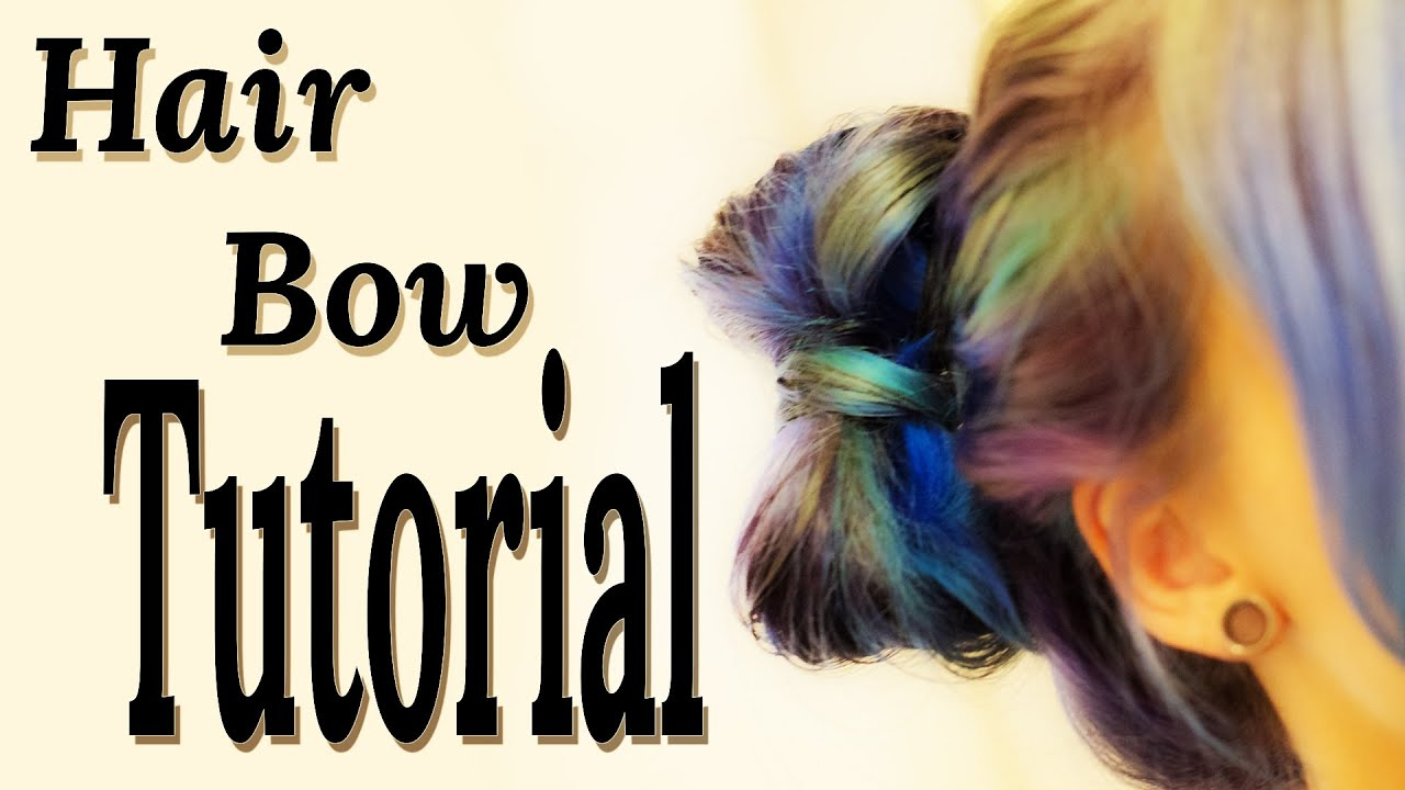 Hair Bow Tutorial Haarschleifen Frisur Für Stufiges Haar Pony