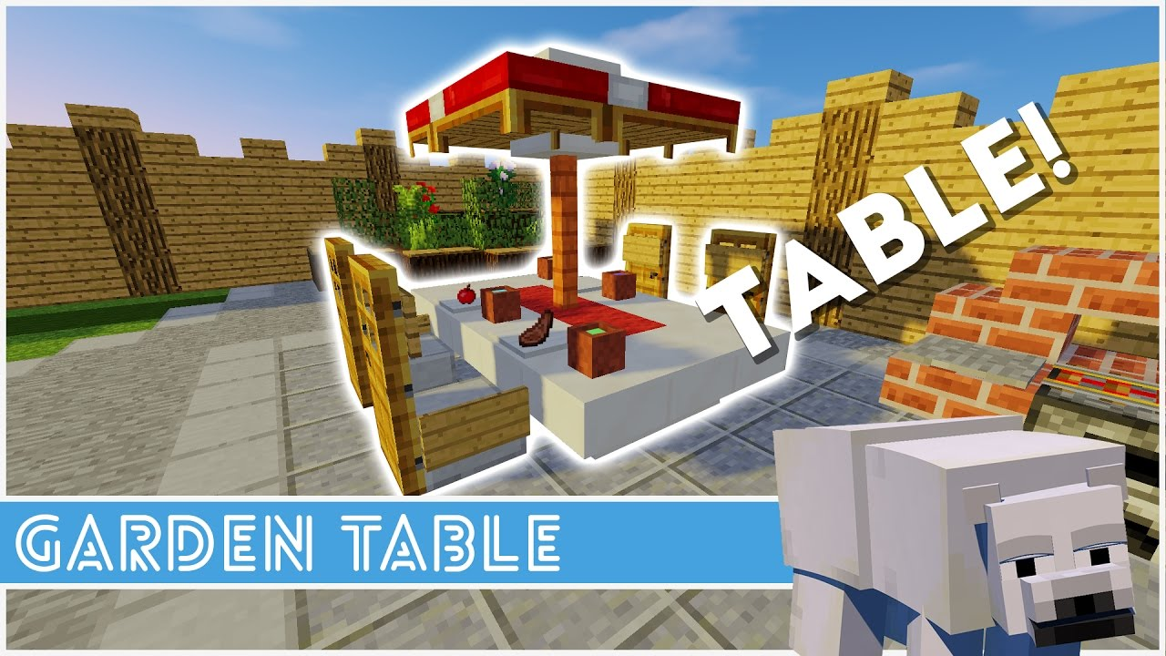 Minecraft - How To Make A Garden Table