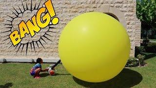 Giant Balloon Pop Toy Surprise - Disney Toys - Kinder Surprise Chocolate Eggs - Minecraft