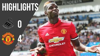Swansea 0-4 Manchester United | Premier League Highlights (17/18) | Manchester United