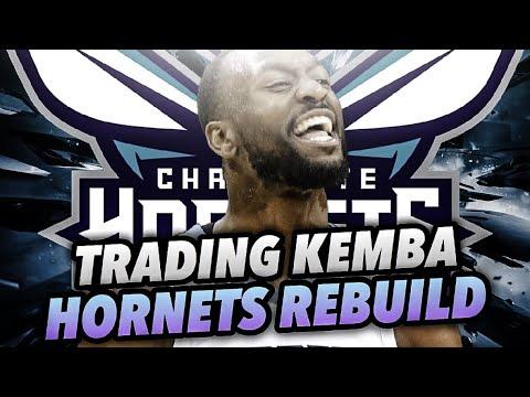 TRADING KEMBA WALKER HORNETS REBUILD! NBA 2K18 MY LEAGUE!