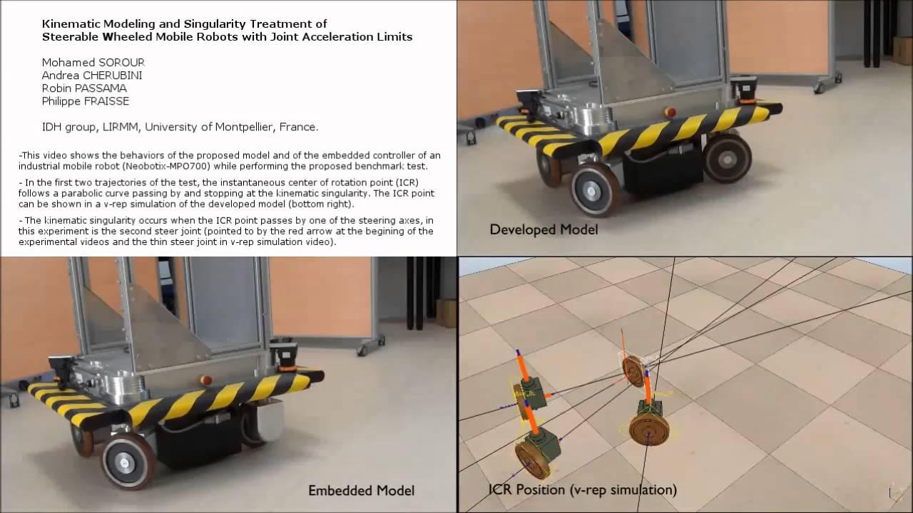 Kinematic Modeling and Singularity Treatment of pseudo omni wheeled robots