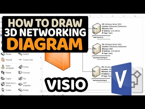How to Create 3D Networking Diagram in Microsoft Visio [Part 2]
