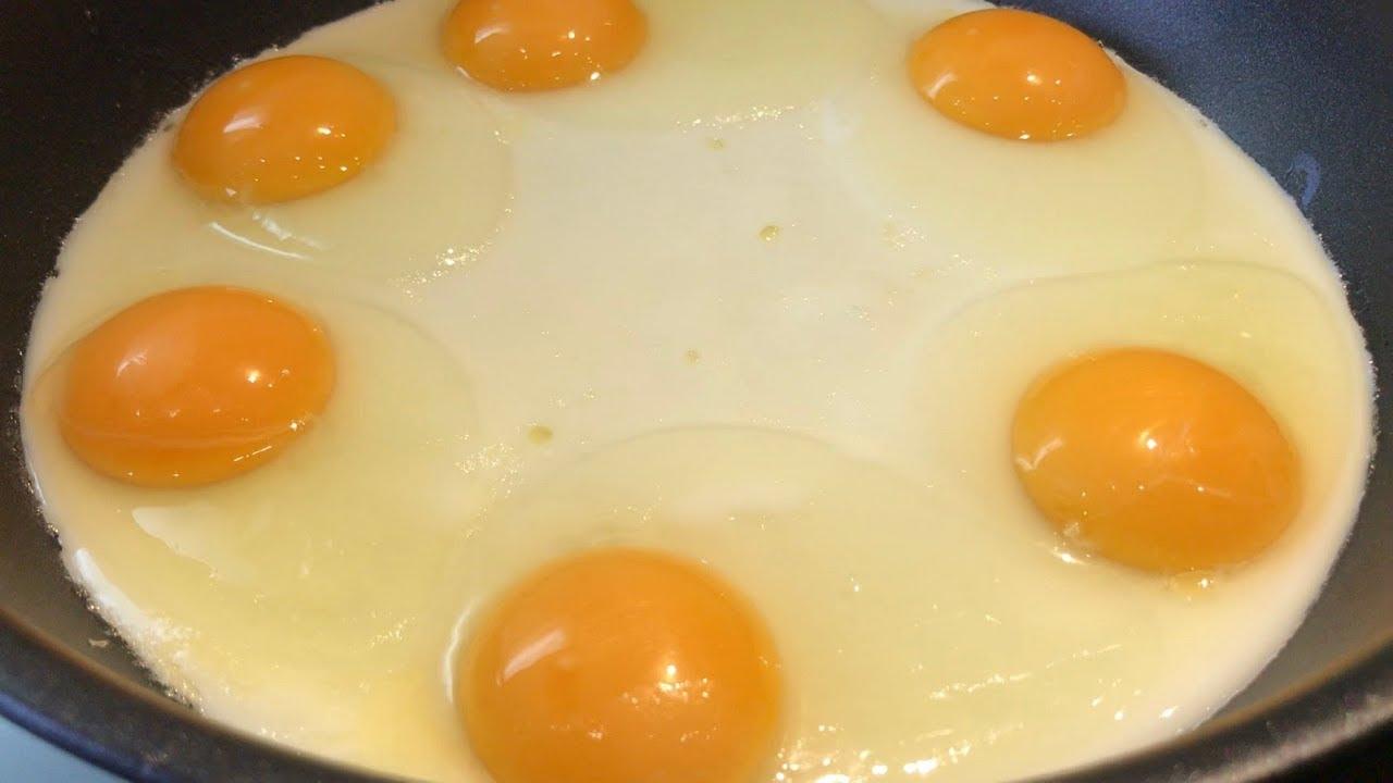 Идеальная яичница, когда некуда спешить.