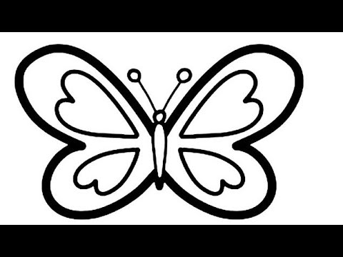 how to draw cute butterfly drawing and painting rainbow ...