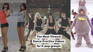 The Most Viewed Dance Practice Videos for K-pop groups