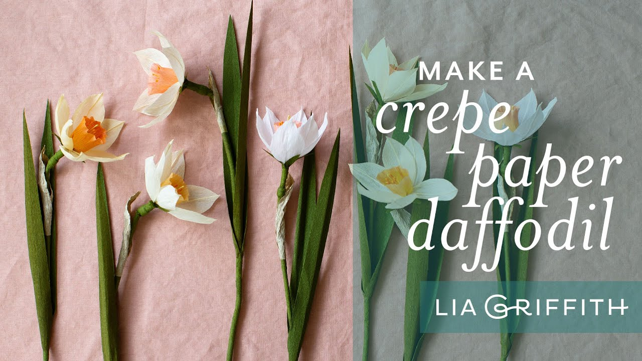 Member Make Live Tutorial: Extra-Fine Crepe Paper Daffodils