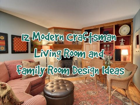 12 Modern Craftsman Living Room and Family Room Design ...