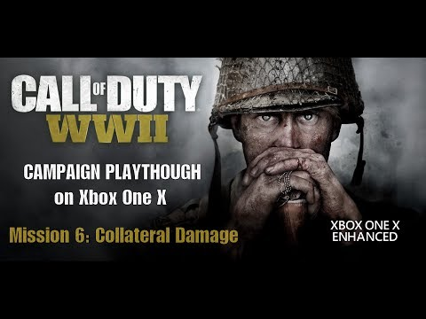 [4K] Let's Play Call of Duty WWII Mission 6: Collateral Damage on Xbox One X