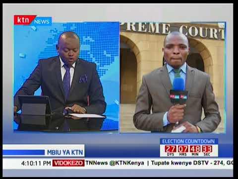 Jaji mkuu David Maraga aongelea maandamano ya wafuasi wa Jubilee nje ya mahakama kuu