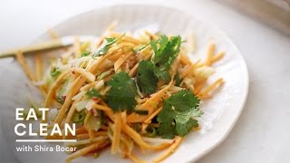 Crunchy Sweet Potato And Apple Julienne Salad - Eat Clean With Shira Bocar