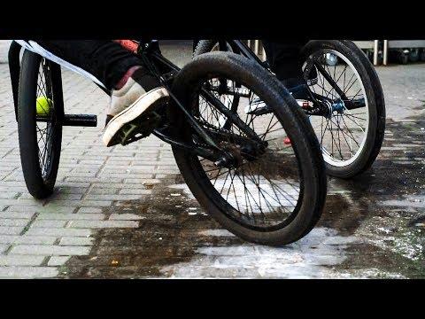 Почти зимний дрифт на BMX, это возможно?