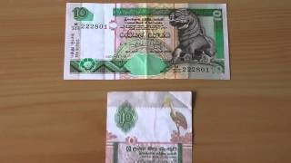 10 Rupees papermoney note of Sri Lanka from 2001 in HD
