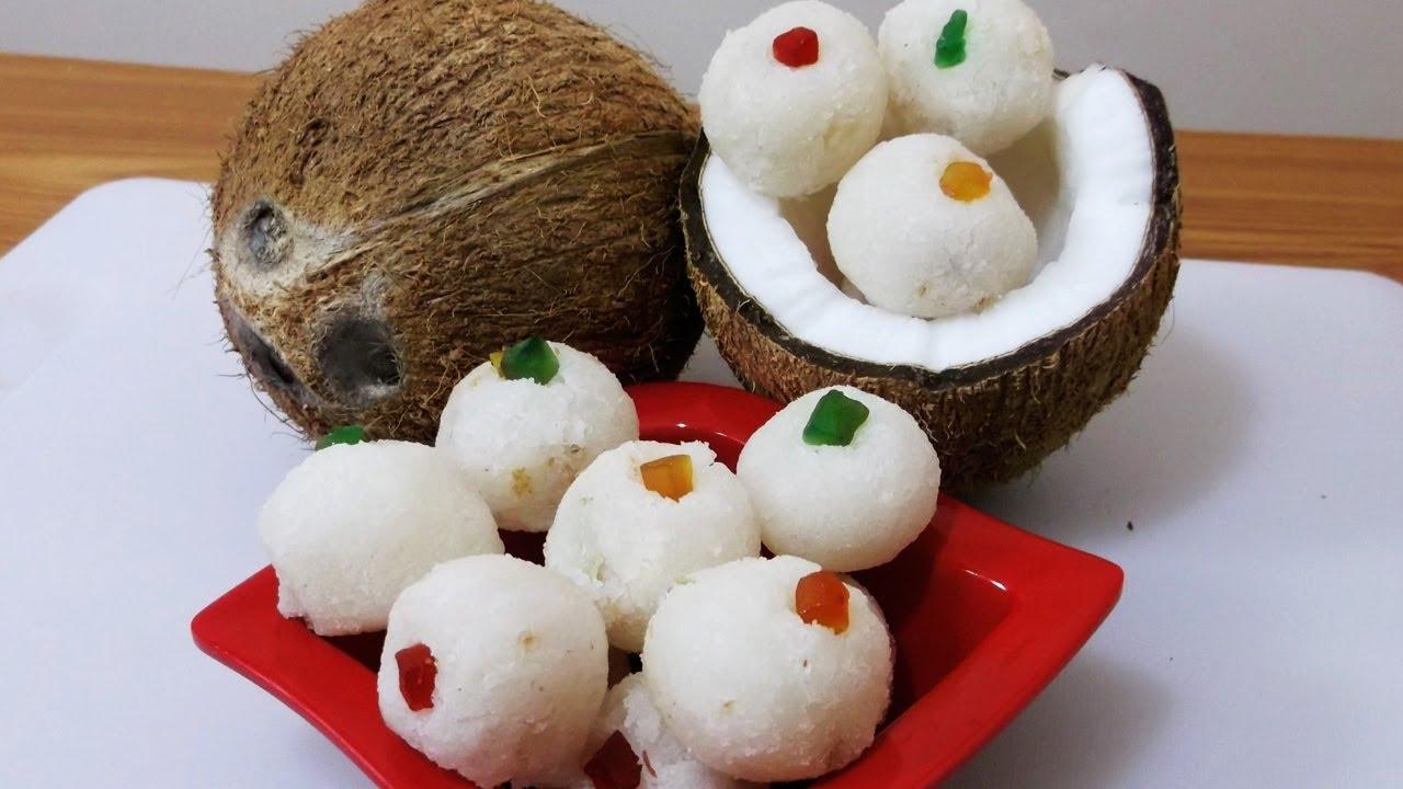 Coconut Laddoo Recipe (Nariyal Ke Ladoo)