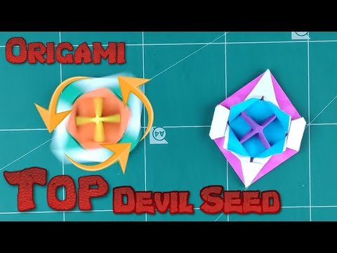 How to Make a Paper Spinner Battle Blade Tutorial | Origami Top Devil Seed l DIY Paper Spinning