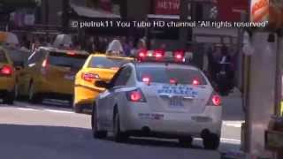 NYPD responding police car rumbler siren sound effects New York 2014 HD ©