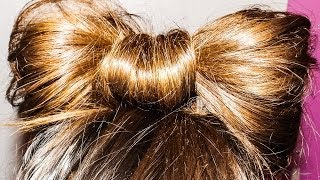 Tutorial Capelli Fiocco in 1 Min-Hair Bow Super Easy