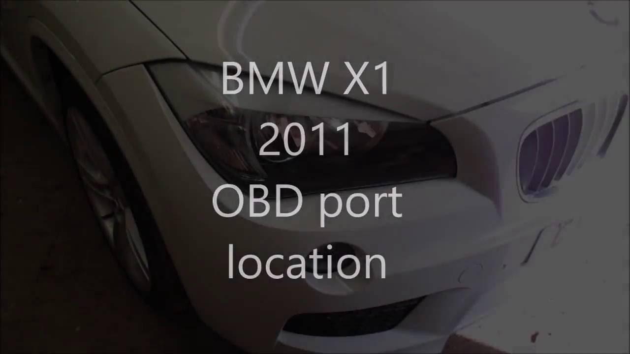 bmw x1 obd port location youtube. Black Bedroom Furniture Sets. Home Design Ideas