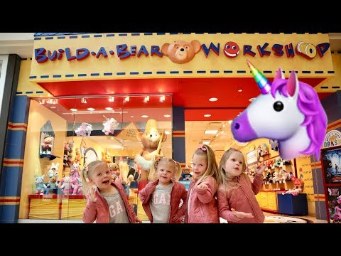 Quadruplets BUILD Their FIRST Build A Bear