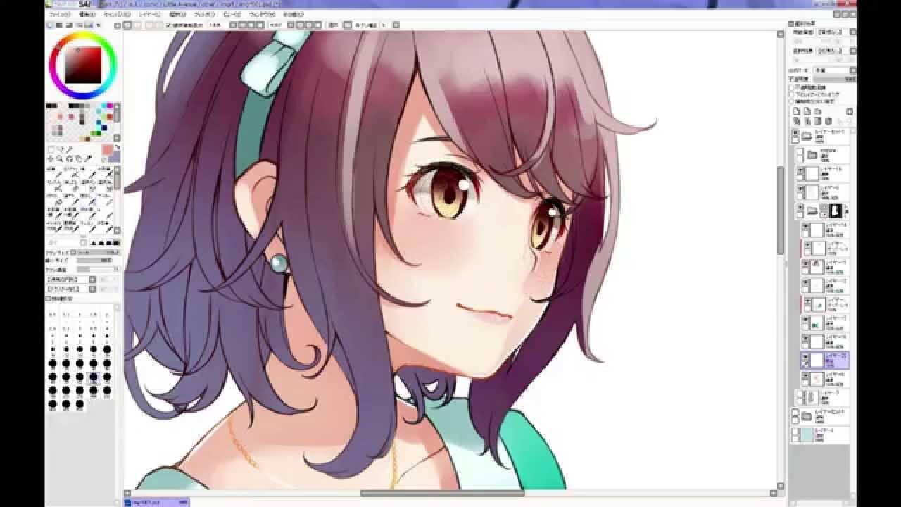 Sai Cg Illustration Making By Retsuna Youtube